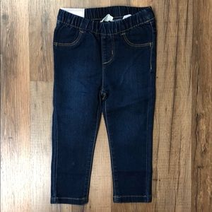 Crazy 8 Baby Girl's Dark Wash Jeggings NWT
